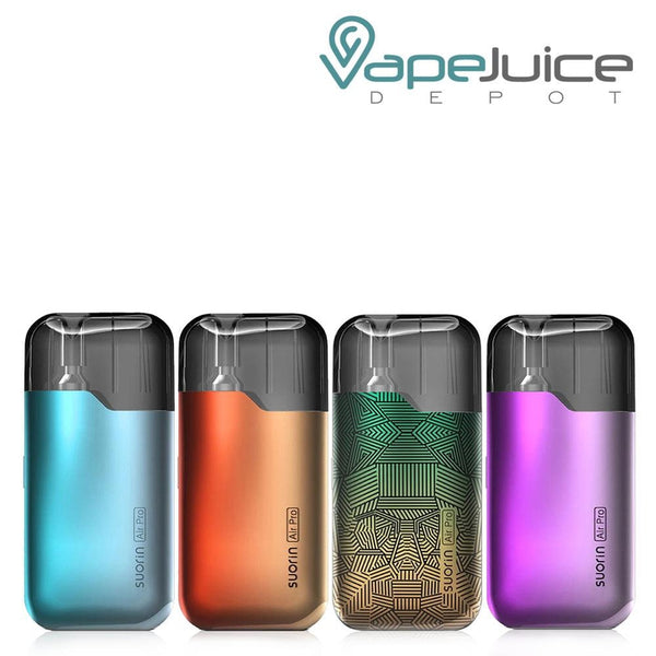 Four Suorin Air Pro Kits with different colors - Vape Juice Depot
