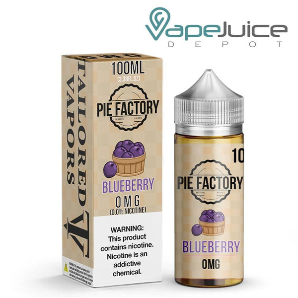 Tailored Vapors Blueberry Pie Factory 100ml - VapeJuiceDepot