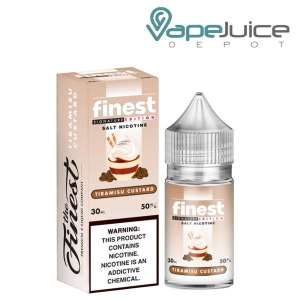 The Finest SaltNic Tiramisu Custard 30ml - Vape Juice Depot