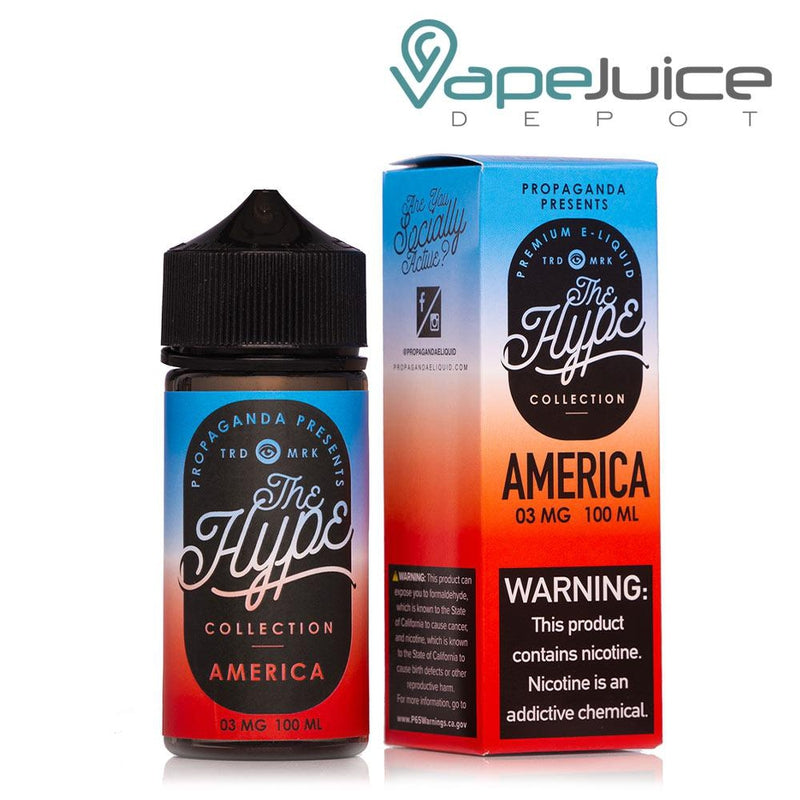 Propaganda The Hype America eLiquid 100ml - Vape Juice Depot
