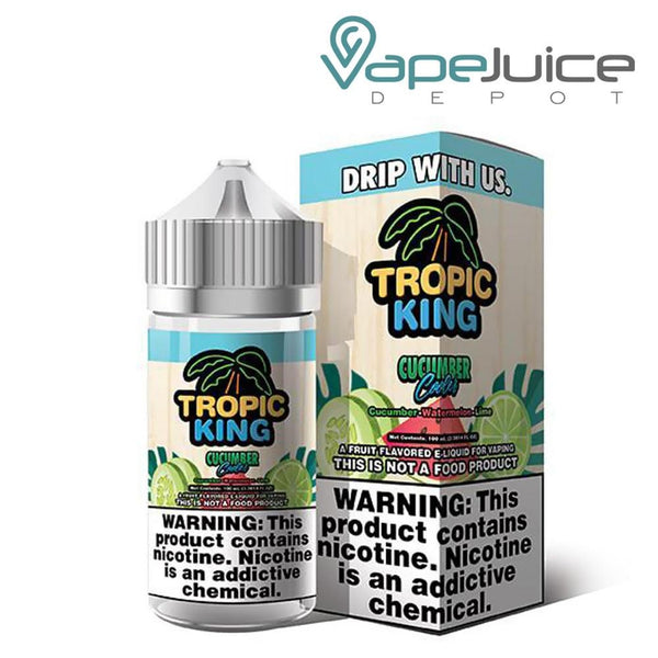 Tropic King Cucumber Cooler eLiquid 100ml - VapeJuiceDepot