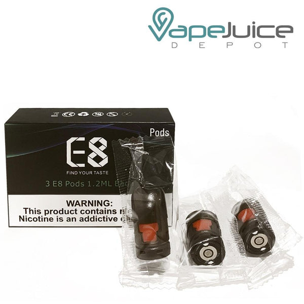 VAPEANTS E8 Replacement Pods - VapeJuiceDepot