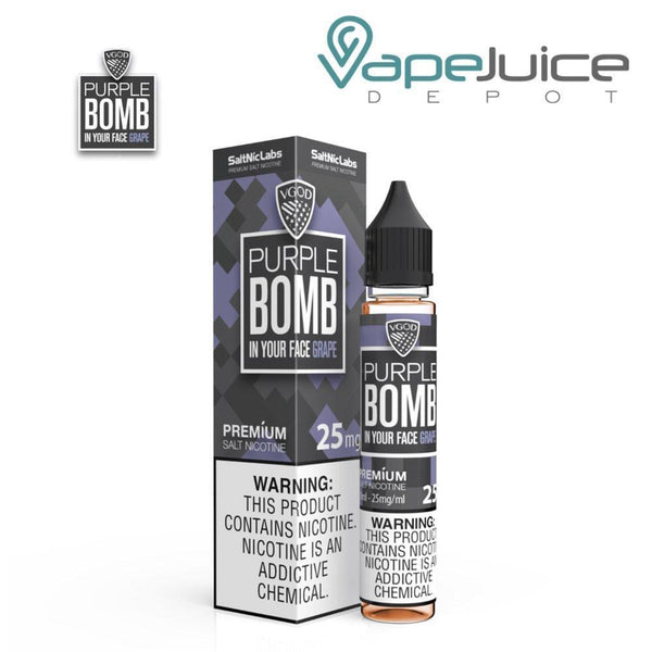 VGOD Purple Bomb SaltNic In Your Face Grape - FREE Shipping
