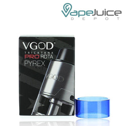 VGOD Trick Tank Pro RDTA Replacement Glass Blue - Vape Juice Depot