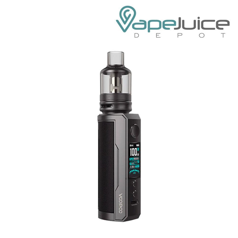Classic VooPoo DRAG X Plus Pod Kit with a activate button, a display, two adjustable buttons and a Type C port - Vape Juice Depot