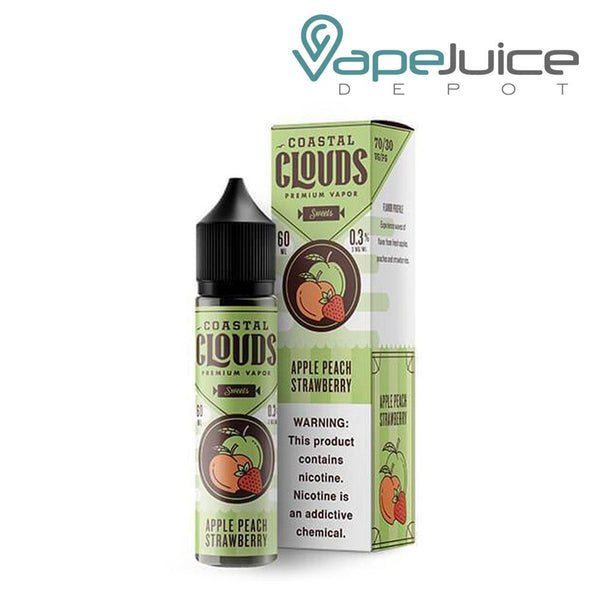 Coastal Clouds Apple Peach Strawberry eLiquid 60ml - Vape Juice Depot