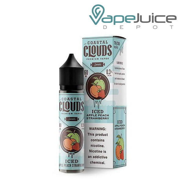 Coastal Clouds ICED Apple Peach Strawberry 60ml ❄️ - Vape Juice Depot
