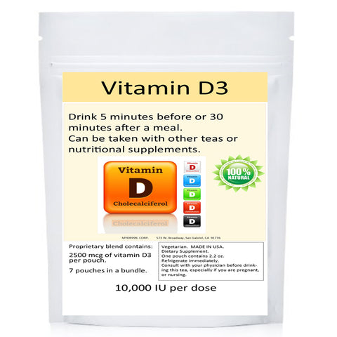 Concentrated liquid vitamin D3 gives you 70,000 I.U. per packet