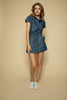 Blue Jean Denim Short Dress - Front