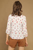Cream Floral Blouse - Back