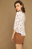 Cream Floral Blouse - Side