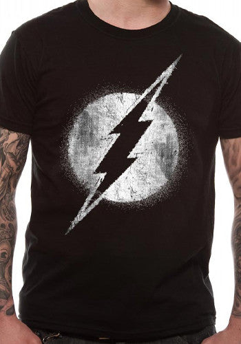 The Flash - Distressed logo t shirt by DC Comics for Men