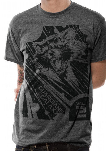 Mens Guardians Of The Galaxy T Shirt by Marvel in Grey