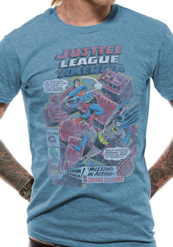 Mens Justice League T Shirt by DC Comics