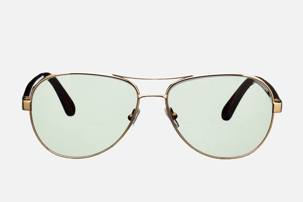 William Sunglasses - Green Lenses - Front