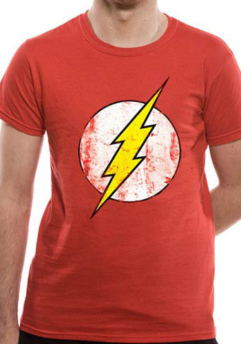 Mens The Flash T Shirt in Red