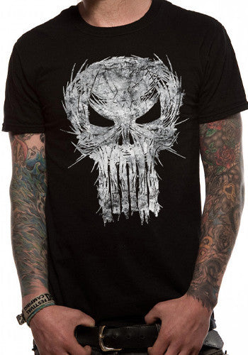 Mens Punisher T Shirt by Marvel in Black
