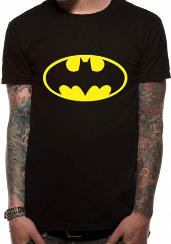 Mens Batman Logo T Shirt in Black