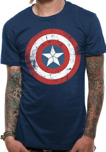 Mens Blue Captain America T Shirt