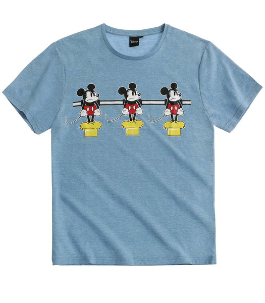 Mens Disney Mickey T-Shirt - Blue