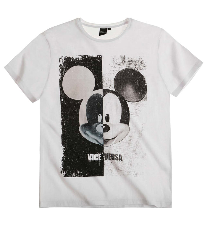 601396a3 Disney's Mickey Mouse T-Shirt in White – LUC BAUER