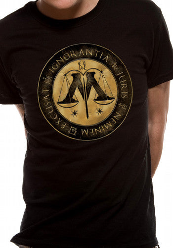 Mens / Unisex Harry Potter Crest T Shirt
