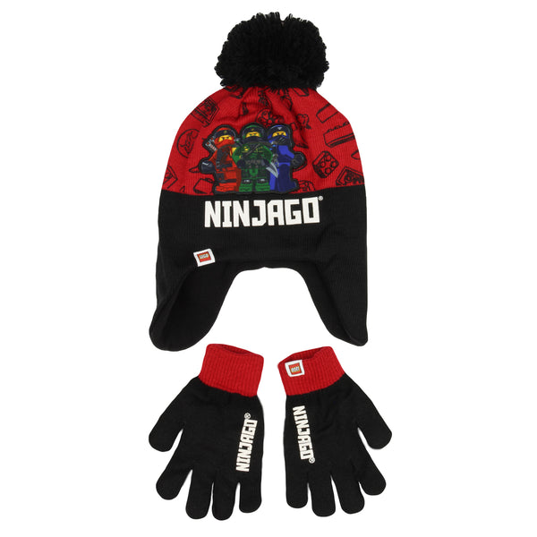 Lego Ninjago Hat & Gloves - Red