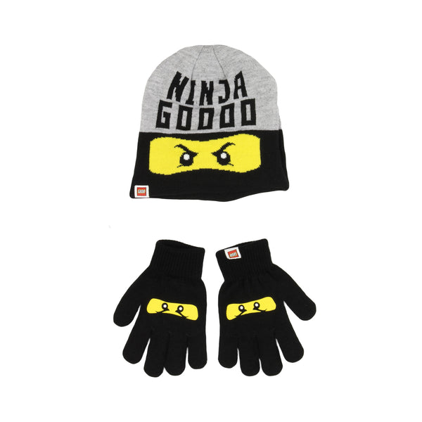 Lego Ninjago Hat & Gloves - Grey