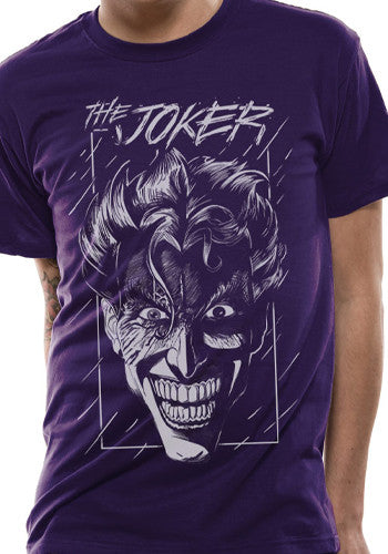 Purple Joker Comic T Shirt