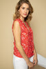 Red Floral Summer Top - Side