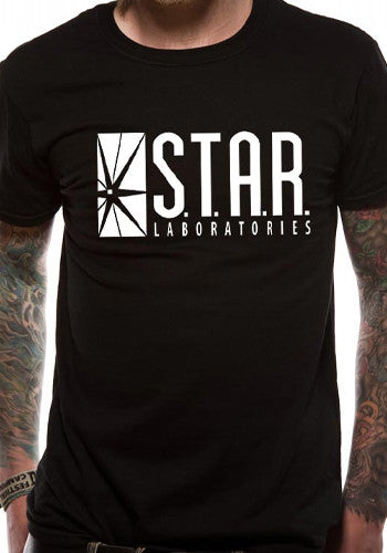 Mens S.T.A.R. Labs Black T Shirt