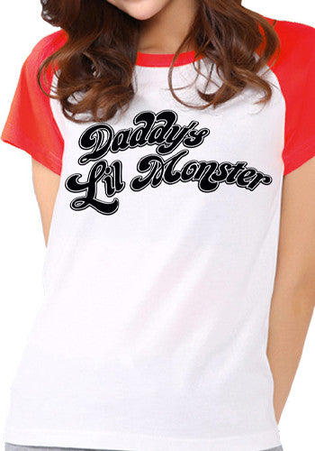 Women's Suicide Squad T-Shirt- Daddy's Lil Monster