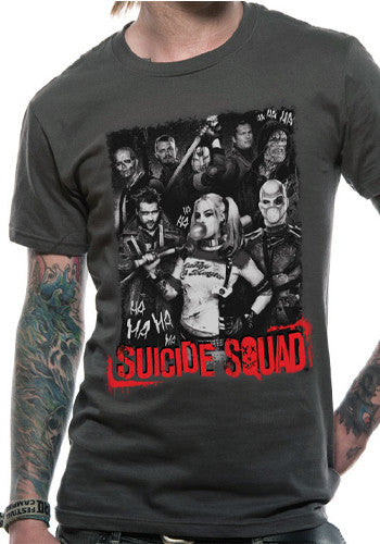 Mens Suicide Squad T Shirt in Grey