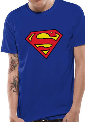 Superman Logo T-shirt by DC Comics in Royal Blue