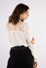 White Long Sleeve Lace Blouse - Back