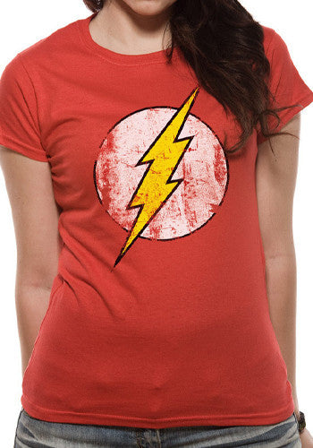 Women's The Flash Distressed Logo T Shirt