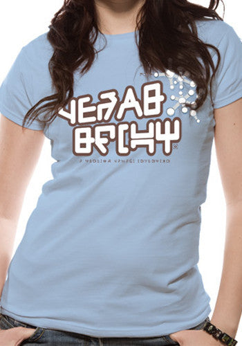 Womens Yeah Baby t-shirt by Marvel in sky blue