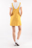 Yellow Cotton Summer Midi Dress - Back