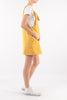 Yellow Cotton Summer Midi Dress - Side