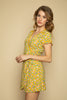 Yellow Floral Wrap Dress - Side