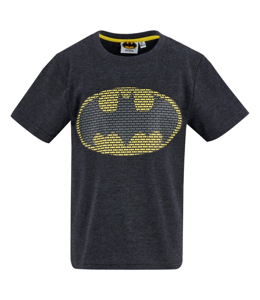 Batman Logo Boys Logo T-Shirt - Grey