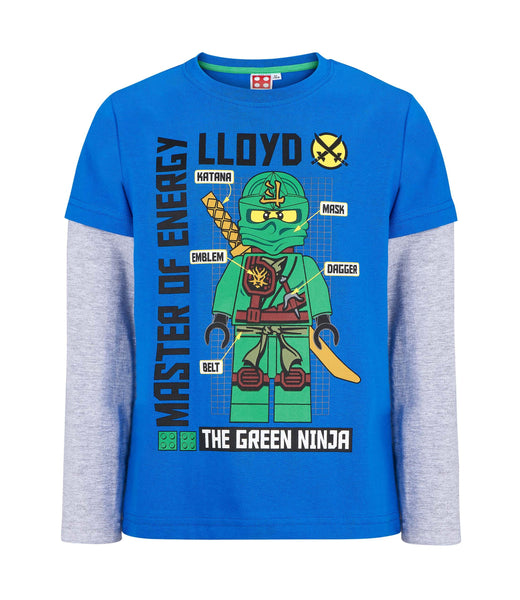 Lego Ninjago Long Sleeve T-Shirt - Blue/Grey