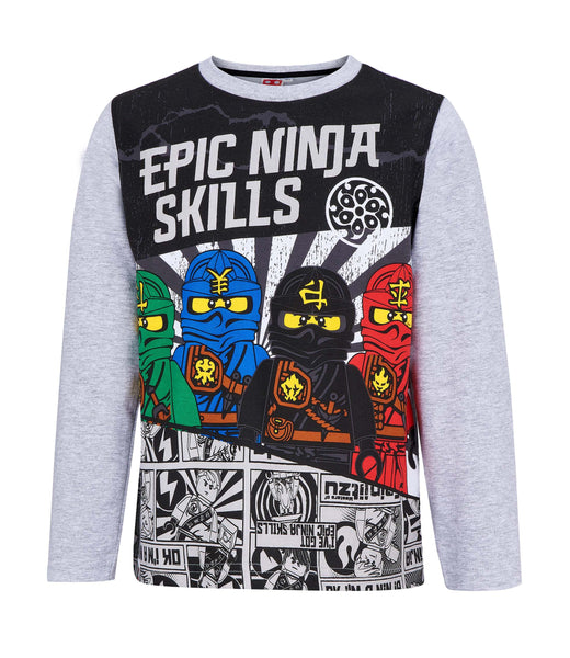 Lego Ninjago Long Sleeve T-Shirt - Black/Grey