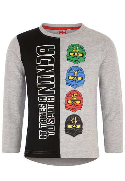 Lego Ninjago Long Sleeve T-Shirt - Grey/Black
