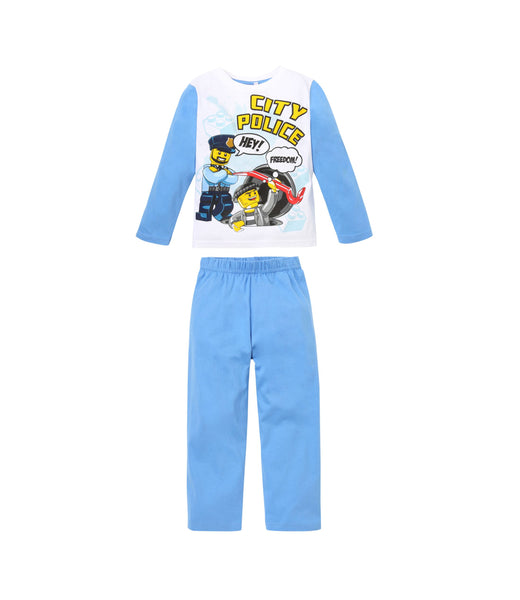Boys Pyjamas Lego City - White