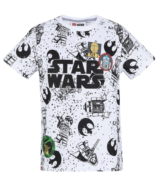 Boys T-Shirt Lego Star Wars - White