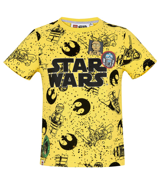 Boys T-Shirt Lego Star Wars - Yellow