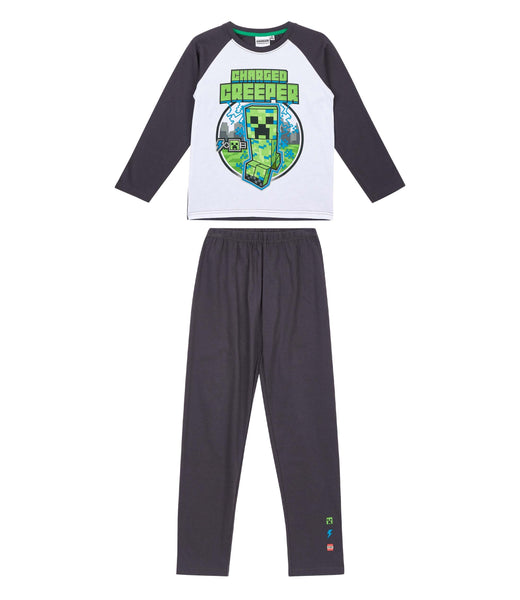 Boys Minecraft Pyjamas, Grey