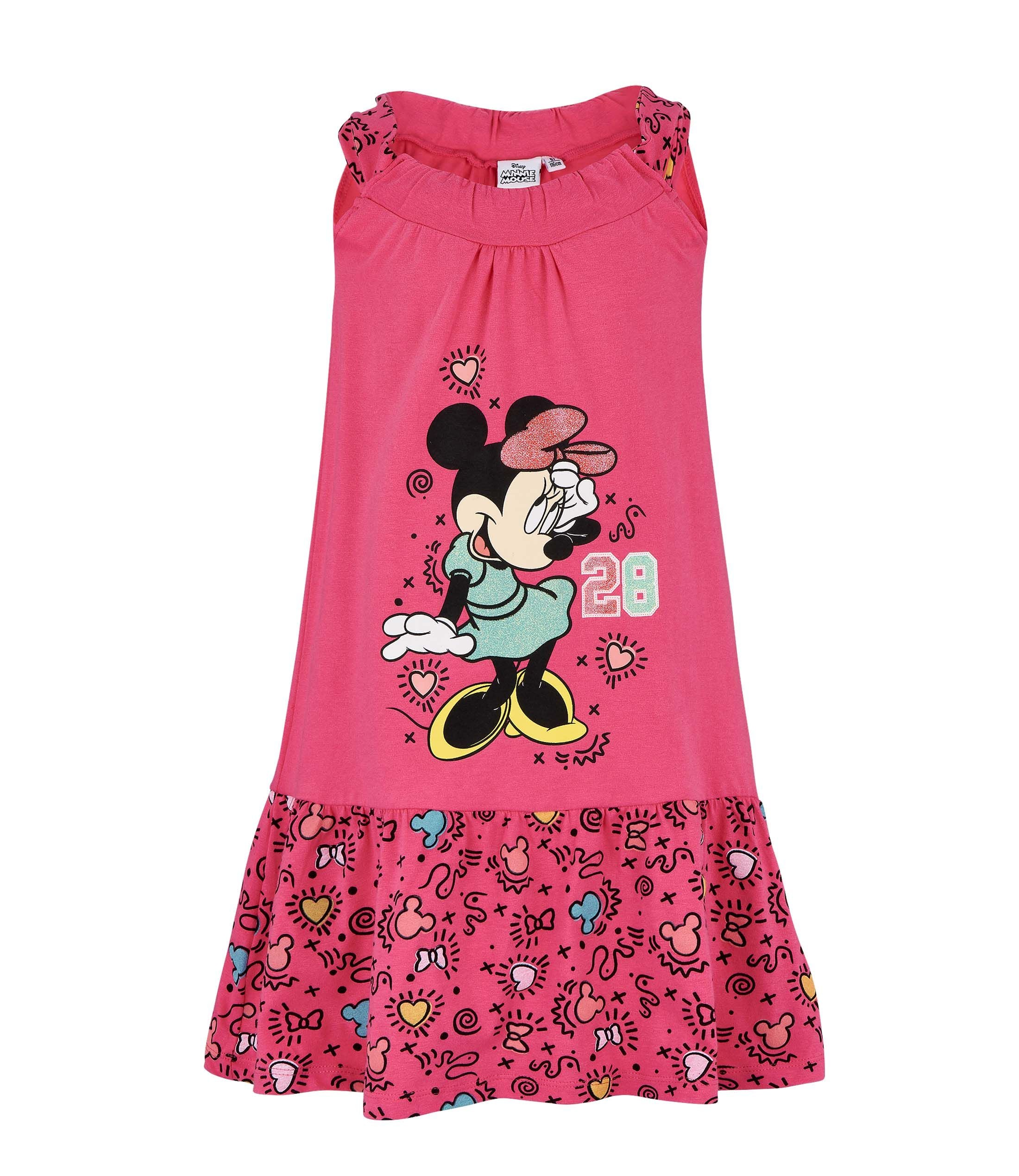 1dd50ba93e49 Girls Dress Disney Minnie Mouse - Fuchsia – LUC BAUER