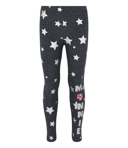 Girls Leggings Disney Minnie Mouse - Charcoal
